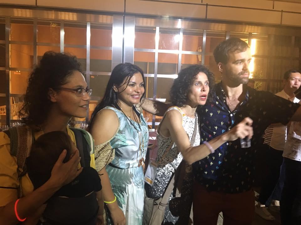 Dançarinos da coreógrafa Dani Lima. Carla, Laura e Renatinho.