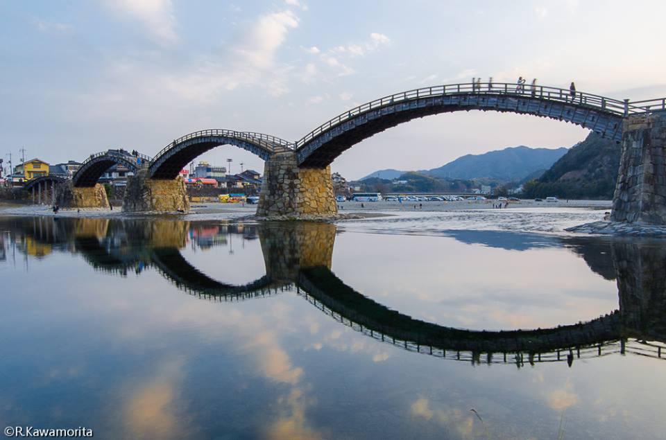 Ricardo Kawamorita Yamaguchi. Iwakuni Tesouro Nacional : Kintai-kyo Bridge de Yamaguchi-ken