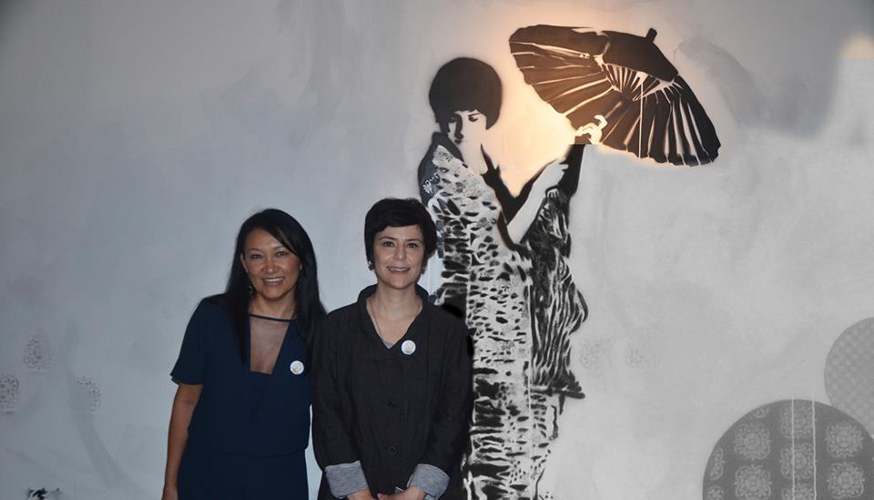 Nagoya! Música de Fernanda Takai, pintura de Sandra HIromoto e poesia de Marilia Kubota . Museu Oscar Niemeyer, 16/03/2016. Olhar InComum: Japão Revisitado.