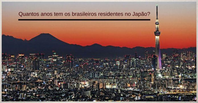 faixa etaria, japao, dados da comunidade, brasileiros no japao