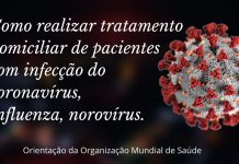 tratamento domiciliar, doencas infecciosas, norovirus, influenza, coronavirus