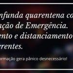 coronavirus, declaracao de emergencia, isolamento, distanciamento social, prevencao, pandemia,